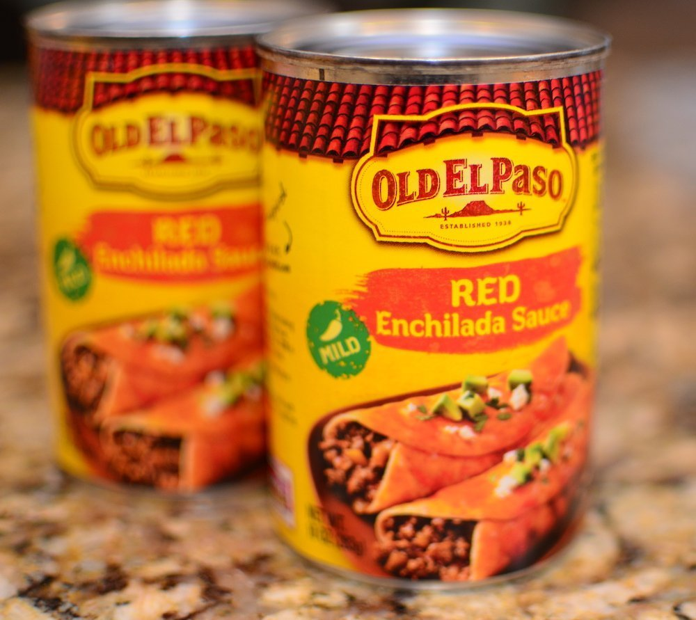 2 cans mild red enchilada sauce
