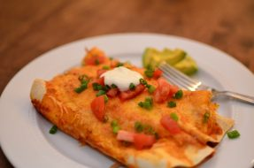 Turkey and Vegetable Enchiladas