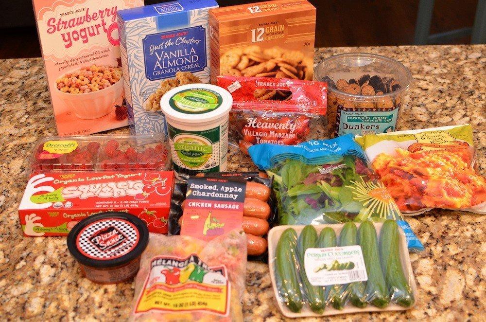 Groceries bought at Trader Joe's
