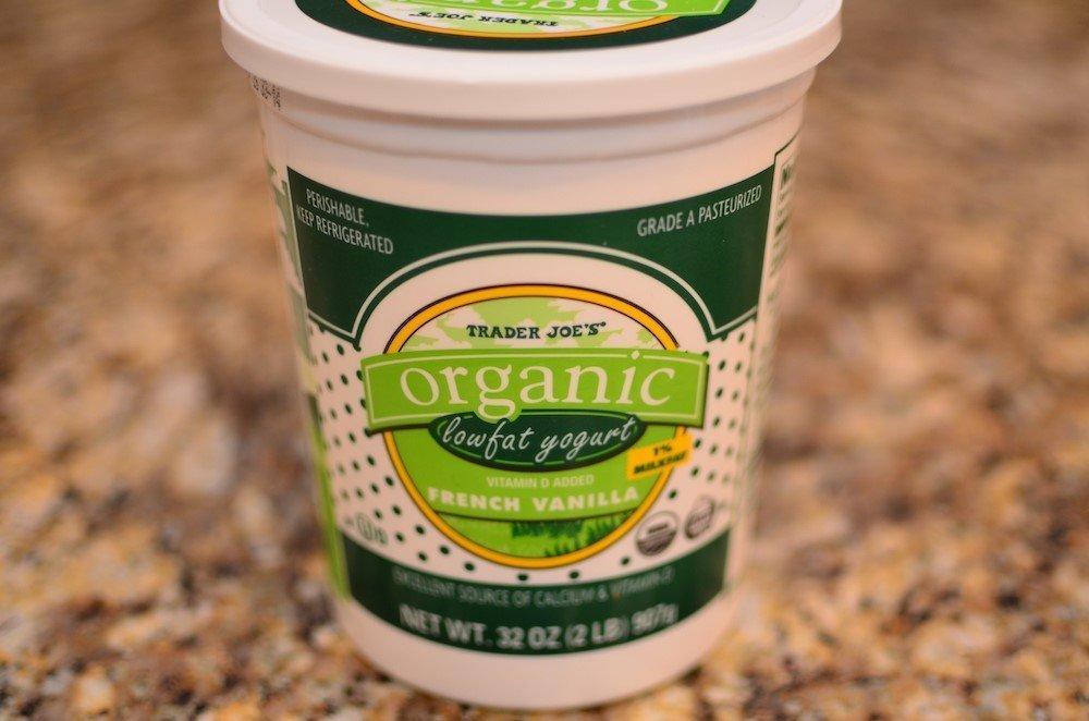 Trader Joe's organic low fat vanilla yogurt