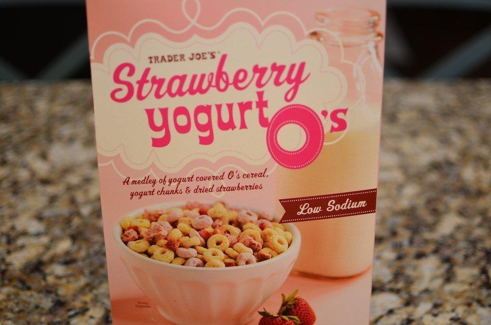 Trader Joe's strawberry yogurt O's