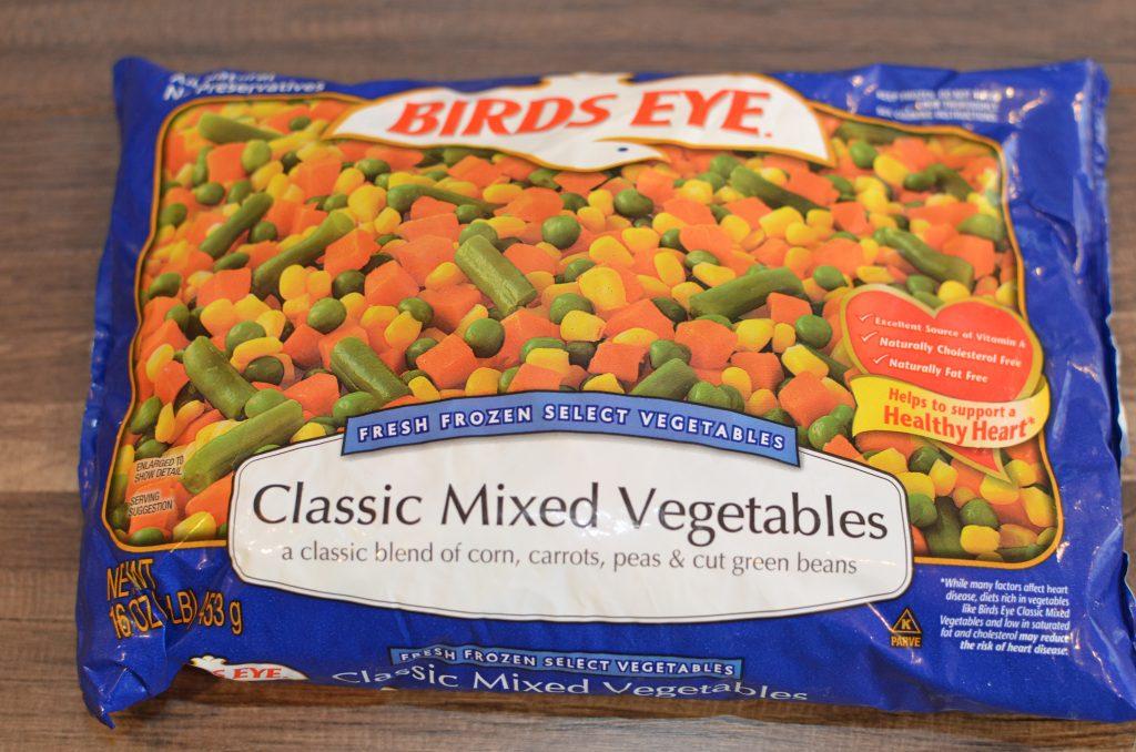 16 oz bag of mixed frozen vegetables