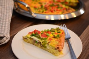 Baked Vegetable and Sausage Frittata