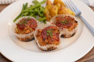 Weeknight Mini Turkey Meatloaves