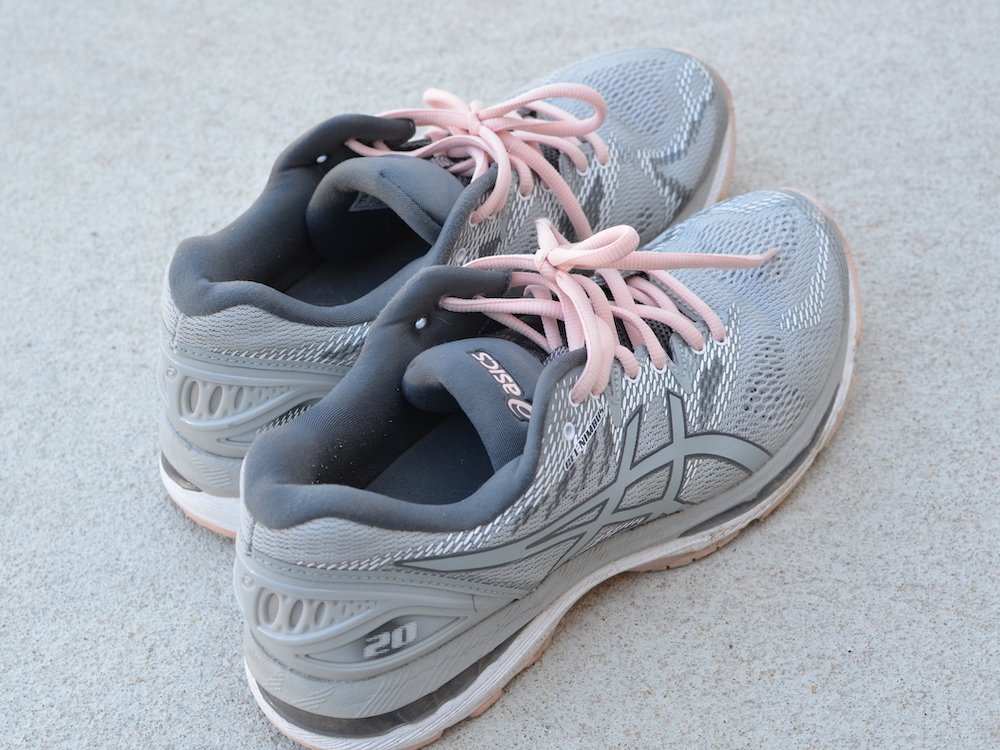 Asics running shoes used in exercise tips for busy moms