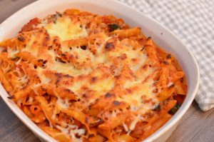 Baked Spinach and Turkey Italian Pasta