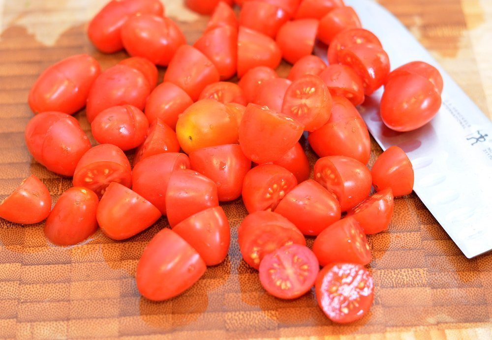 Small tomatoes, halved