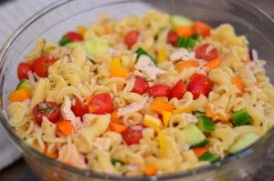 Chicken Vegetable Pasta Salad