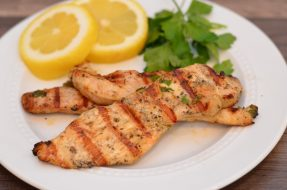 Grilled Lemon Chicken Strips